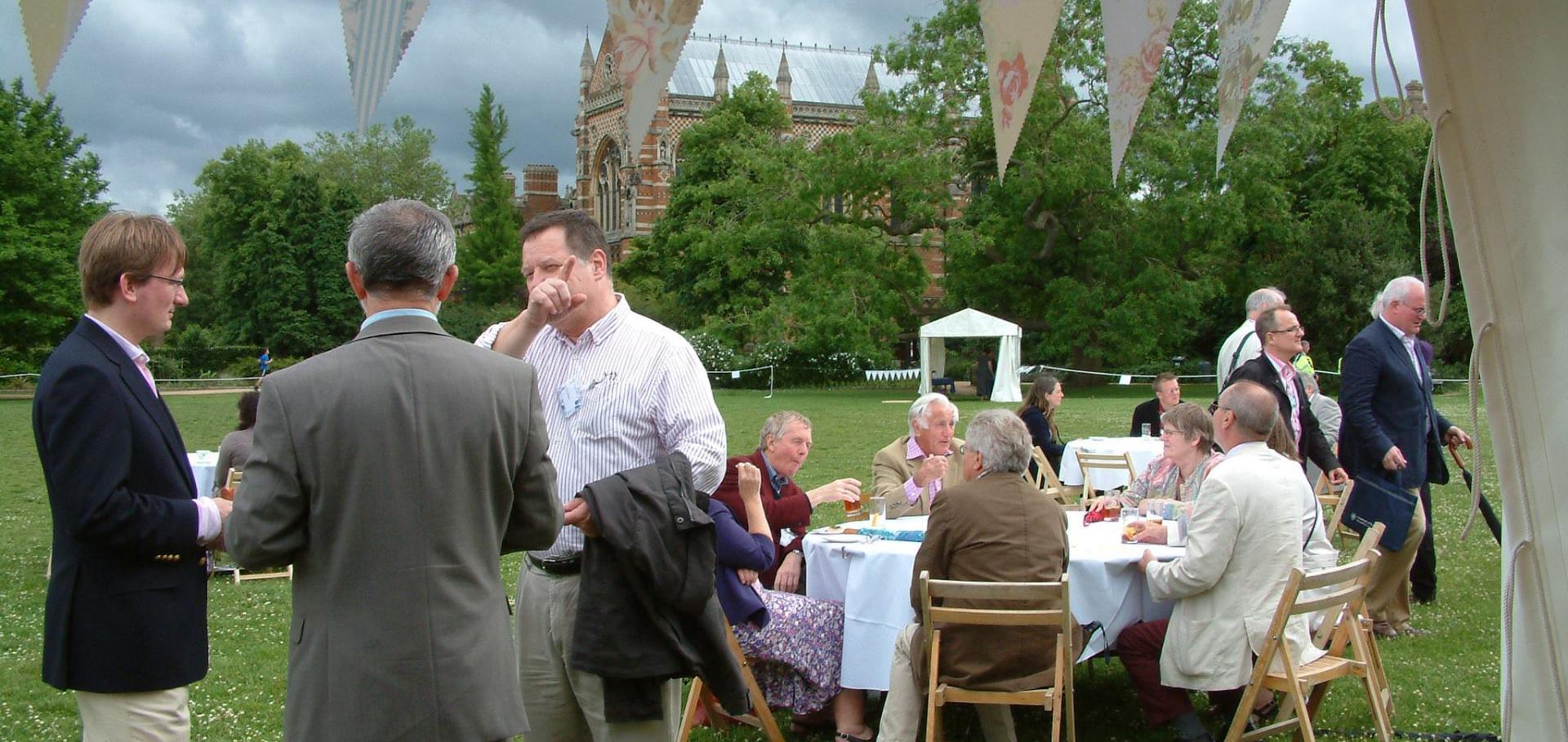 Alumni at a Summer Garden party