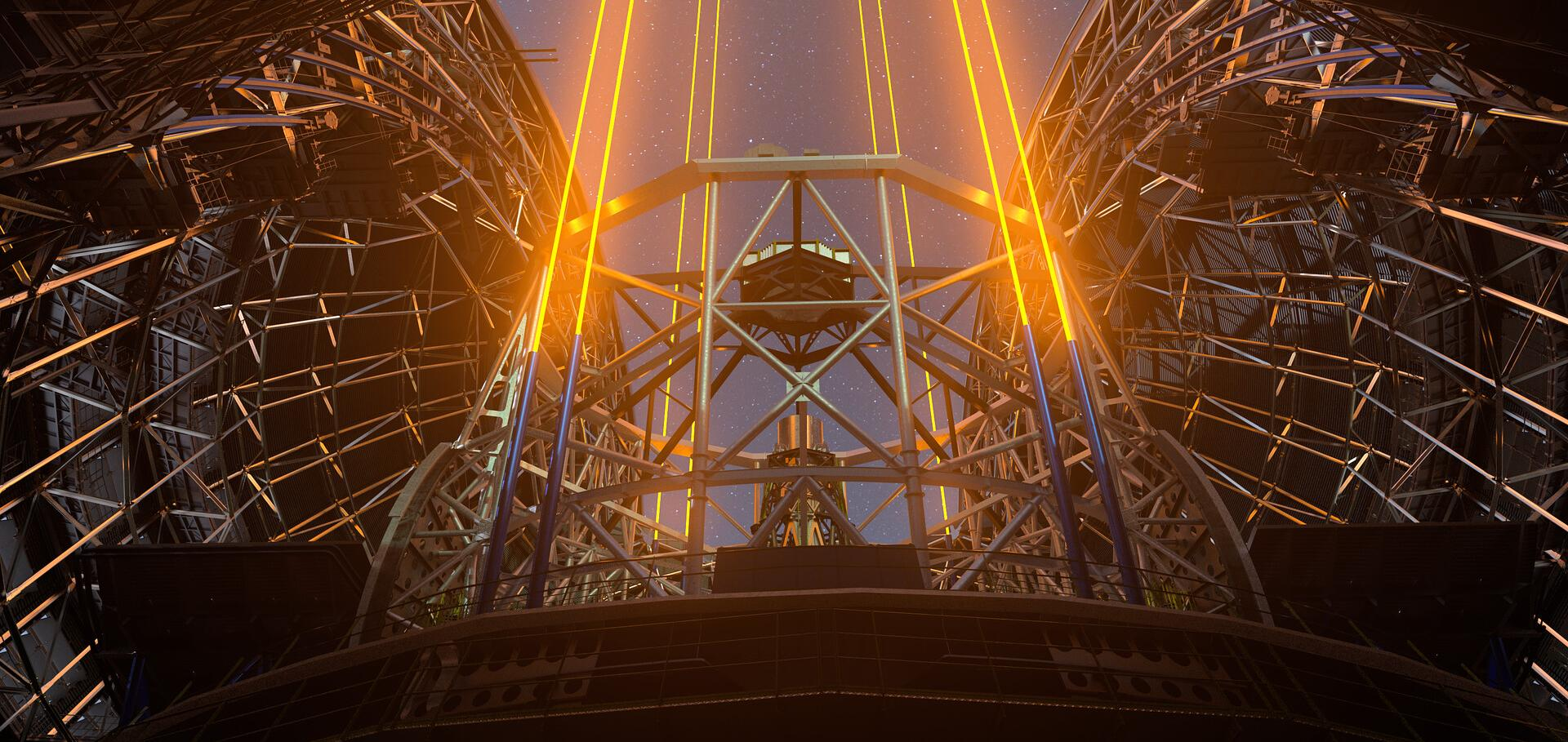The lasers producing artificial guide stars of the Extremely Large Telescope