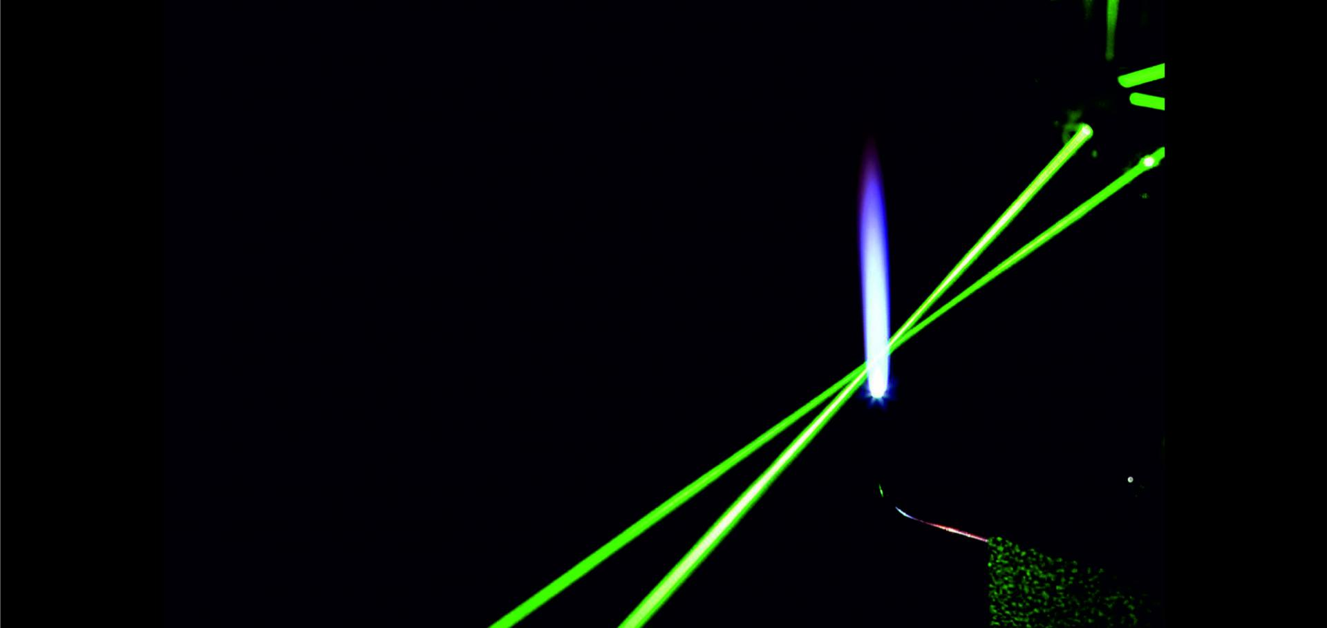 lasers in flame