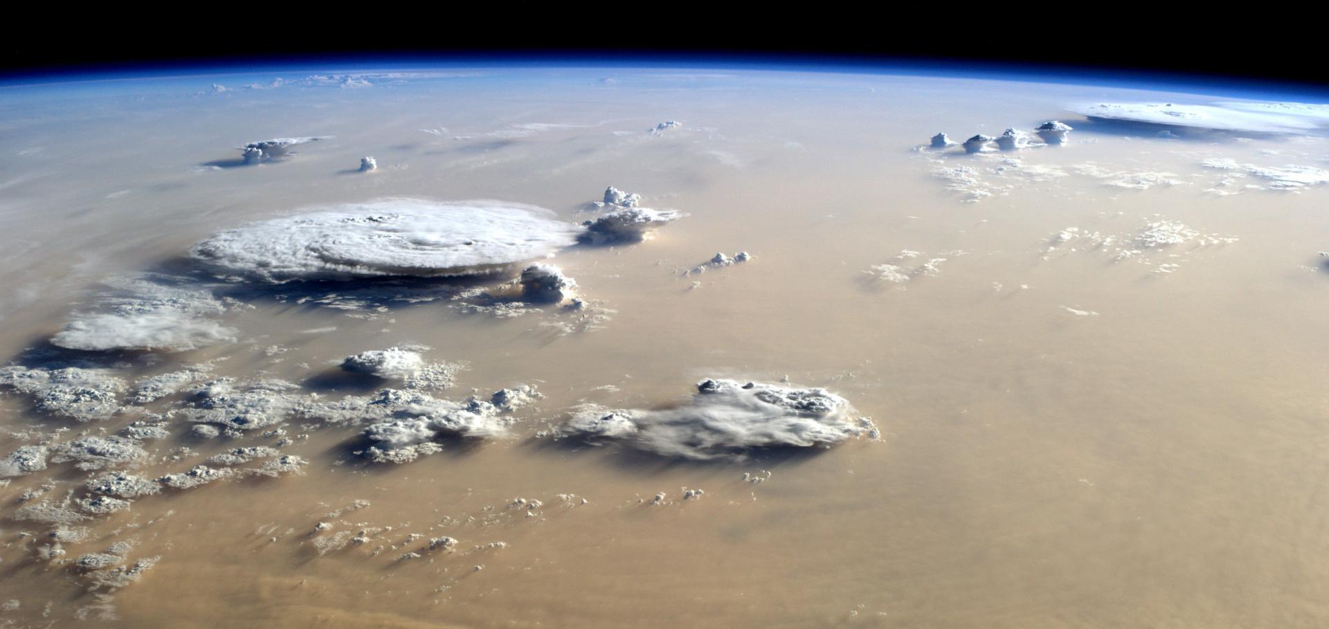Saharan dust and deep convection