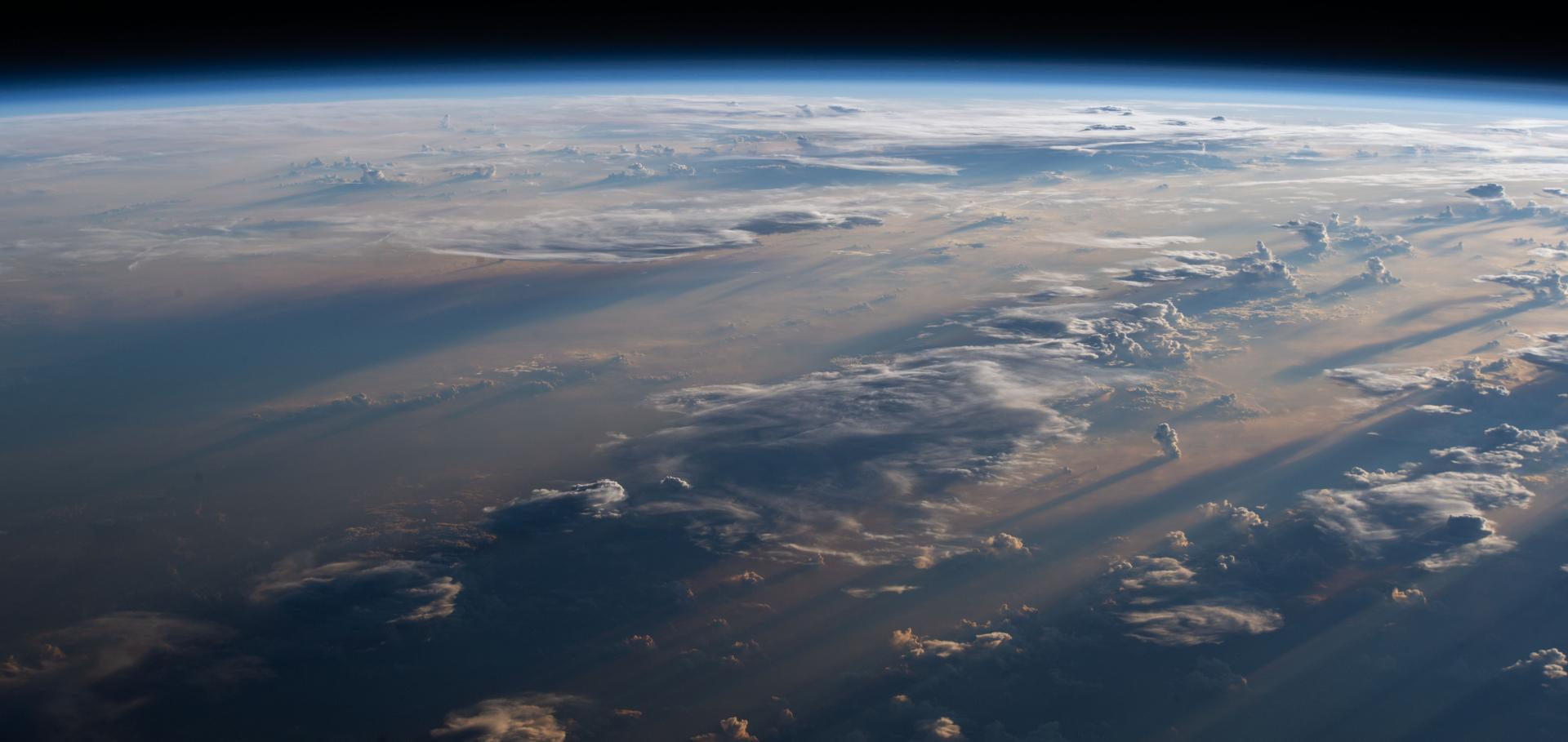 The Earth's atmosphere from space