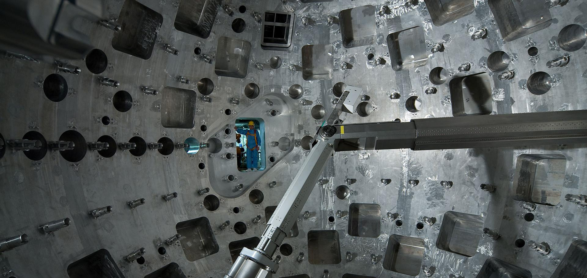 Image of the LMJ target chamber