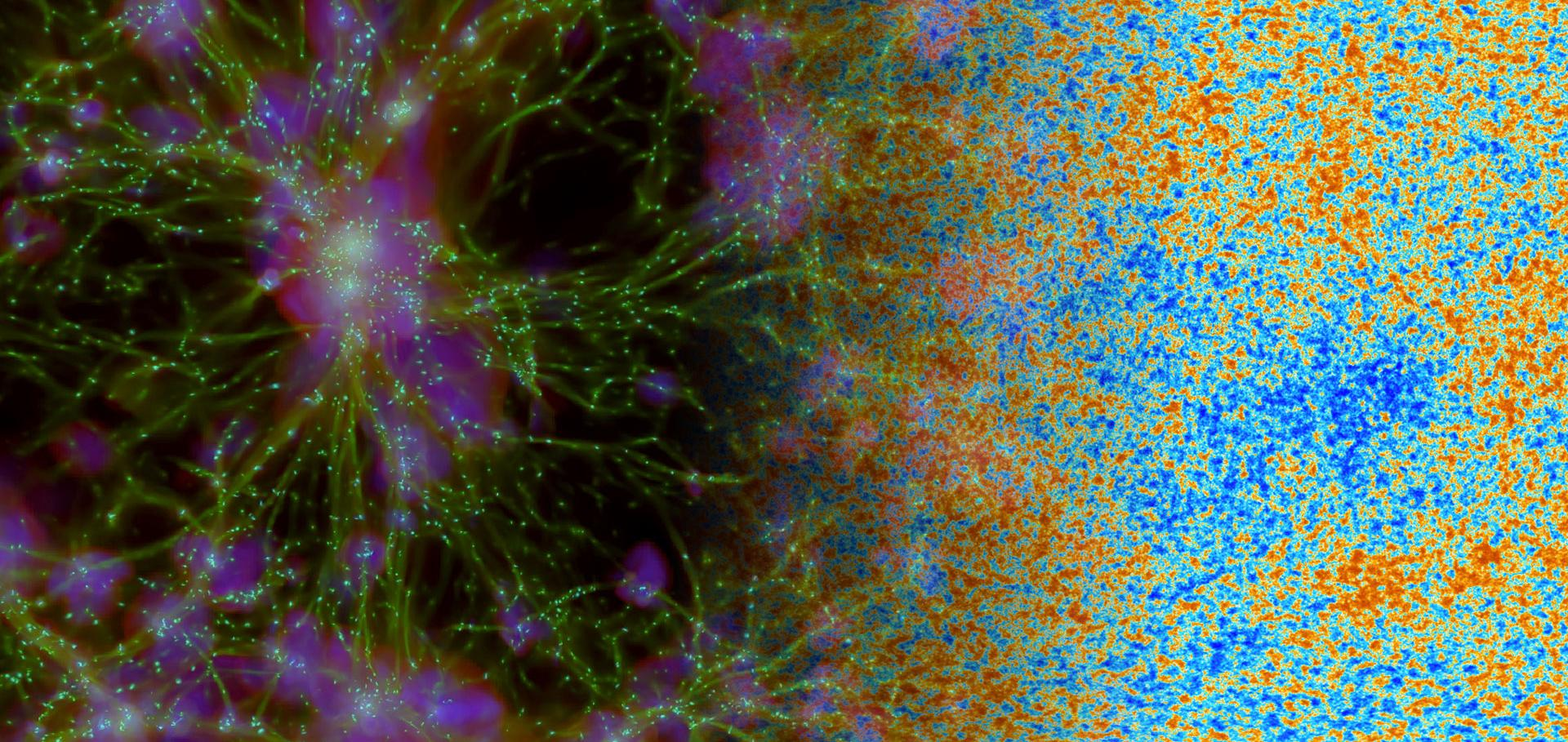 Abstract image to represent particle astrophysics and cosmology