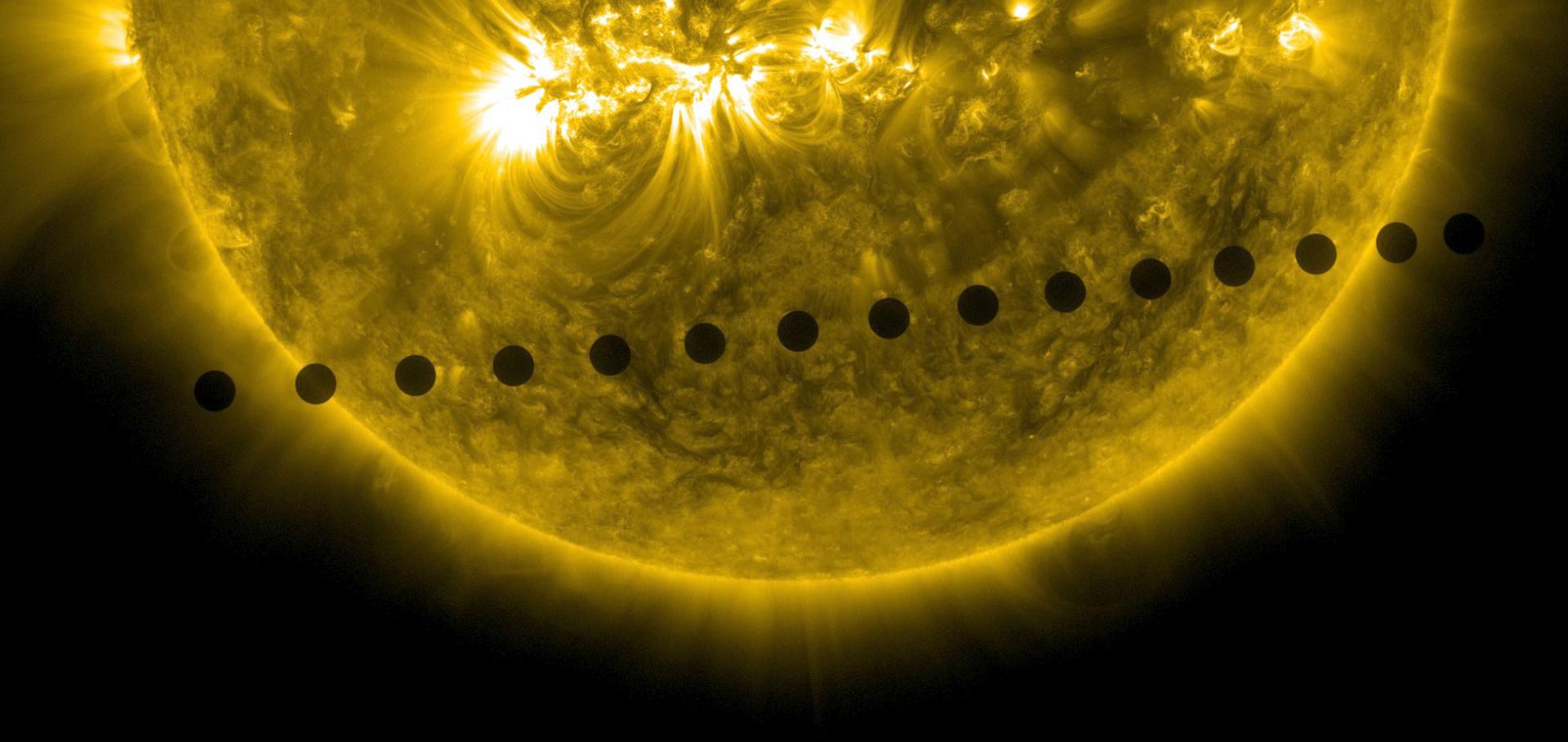 Venus transit across the Sun (2014)